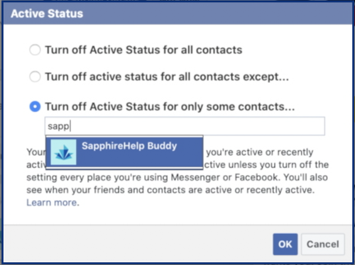 Changing your Active Status is simple and useful