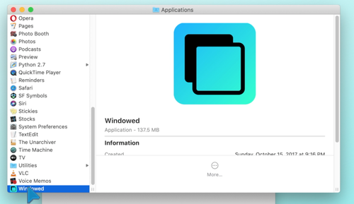 You can find Windowed in your Applications folder